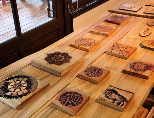 林田山林業文化園區7月16日提供木作工藝體驗
